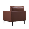 """35"""" Leather One Seater Sofa"""