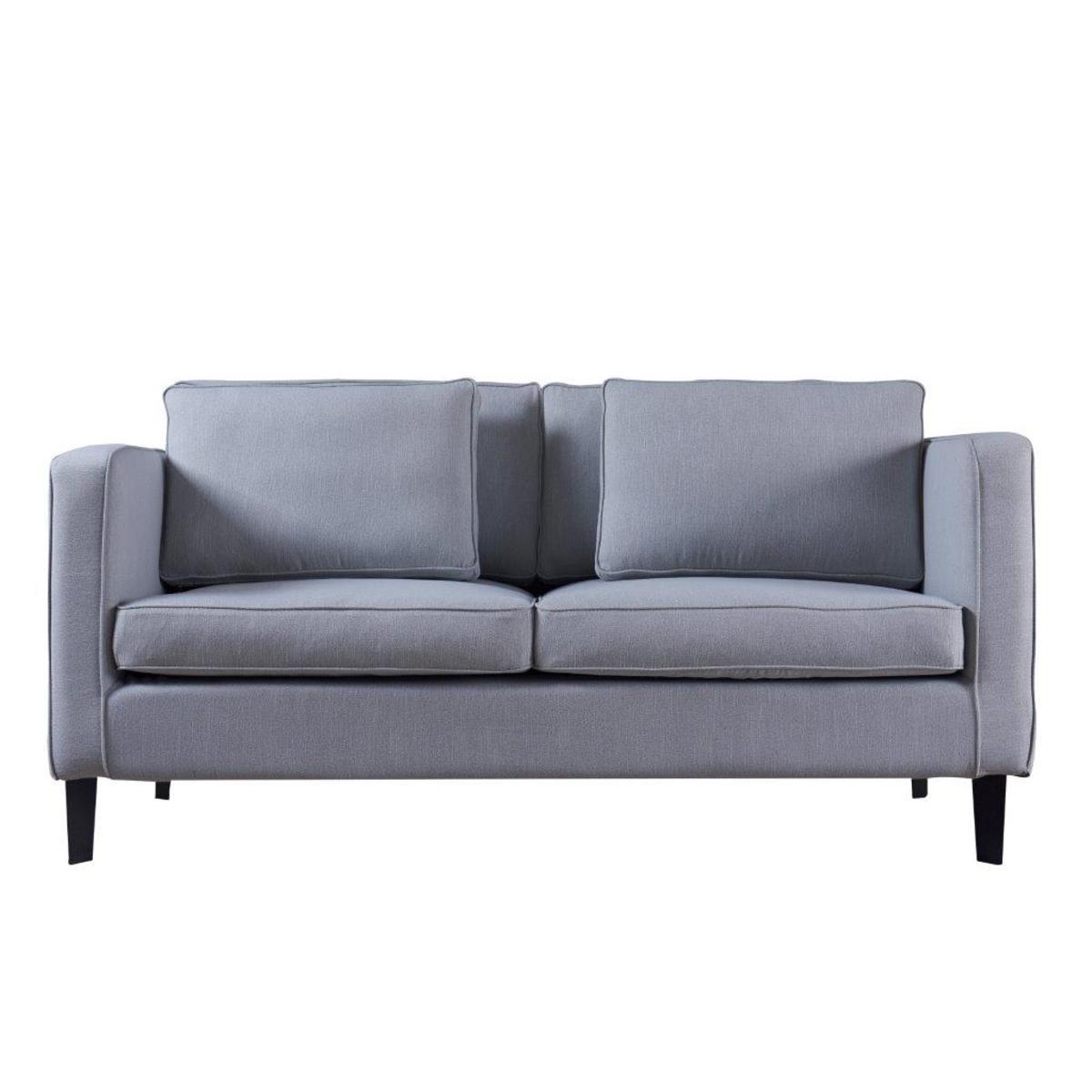 65寸雙座位布藝沙發(灰色)
