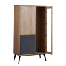"32"" ASH with Dark Grey Color Two Doors with Four Drawer Sideboard"