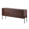 """64.5"""" Walnut With Stone Color Sideboard With Two Doors"""