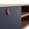 """59"""" ASH with Warm Grey COLOR Two Drawer TV Cabinet"""