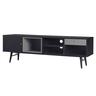 """63"""" Black OAK COLOR TV Cabinet"""