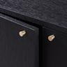63寸黑橡木色雙掩門兩櫃桶電視地櫃