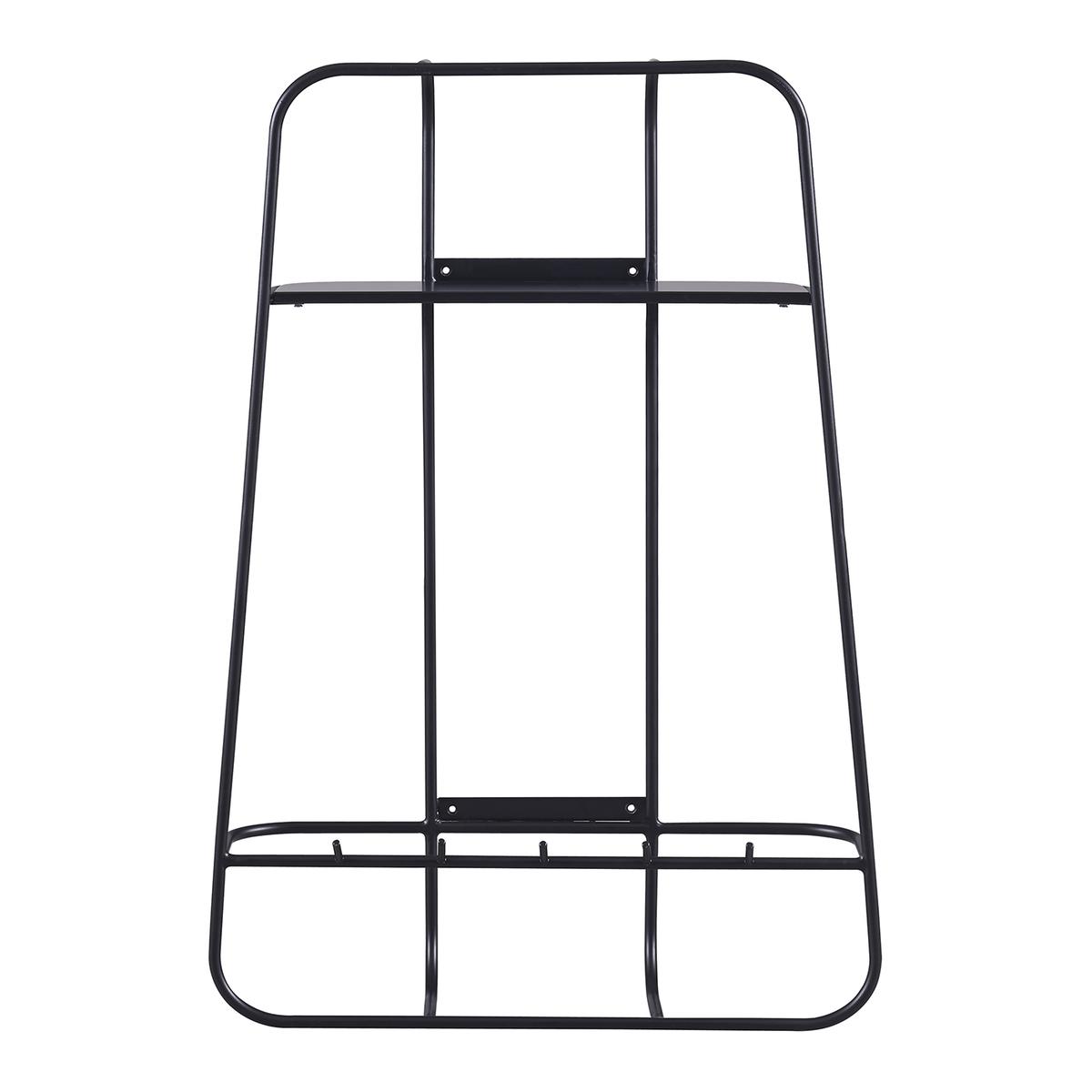 20寸黑色鎖牆式儲物鐵架
