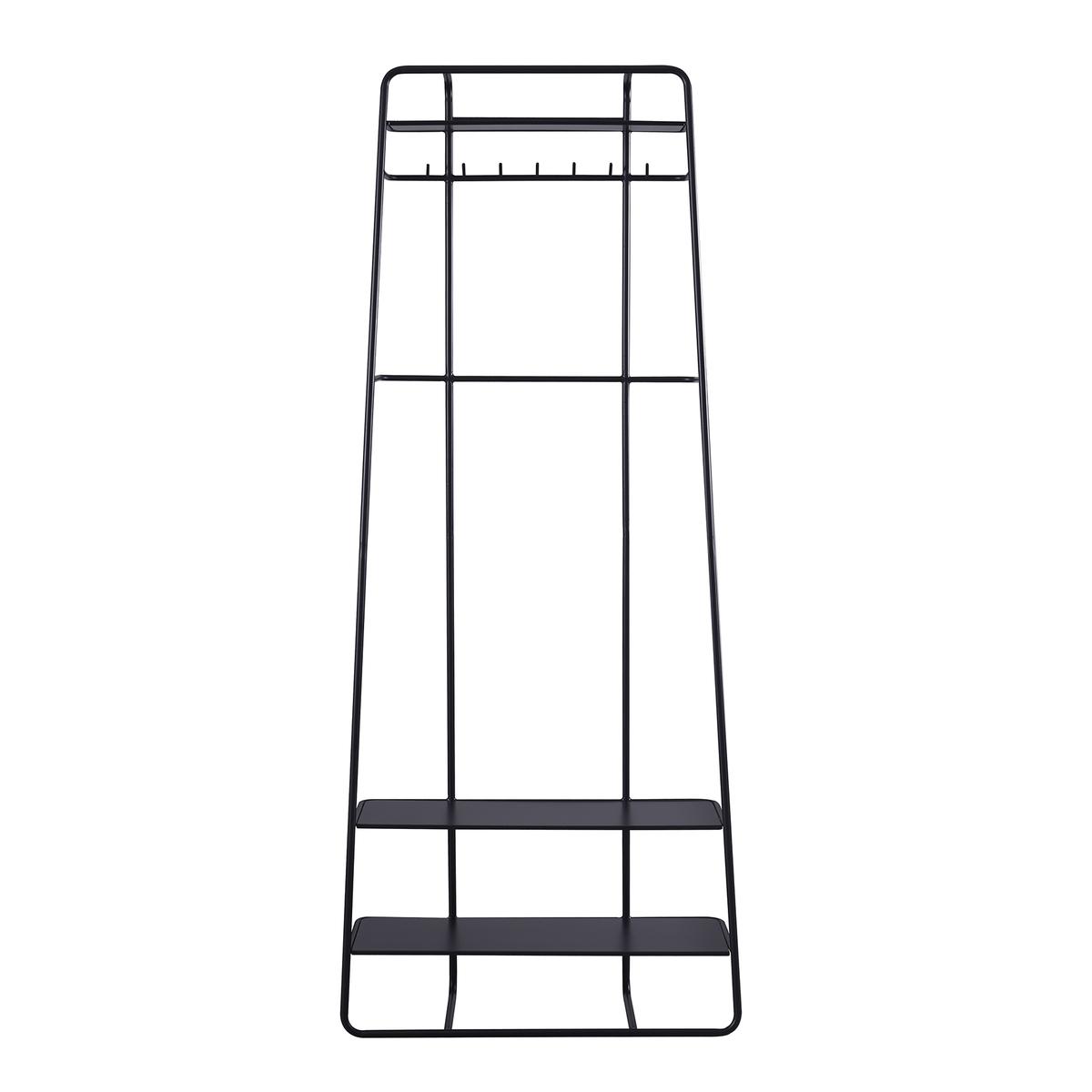 34.6寸黑色鎖牆式鐵架