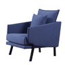"27.2"" One Seater Fabric Sofa with Blue COLOR(Fixed Size and Color)"