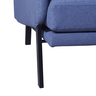 """78.7"""" Three Seater Fabric Sofa with Blue COLOR(Fixed Size and Color)"""