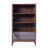"""33"""" Walnut COLOR Two Doors with Two Drawers Sideboard"""