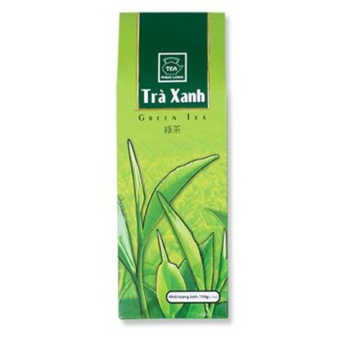 越南 PHUC LONG 傳統手摘綠茶 原茶葉 紙盒裝 150g (10946)