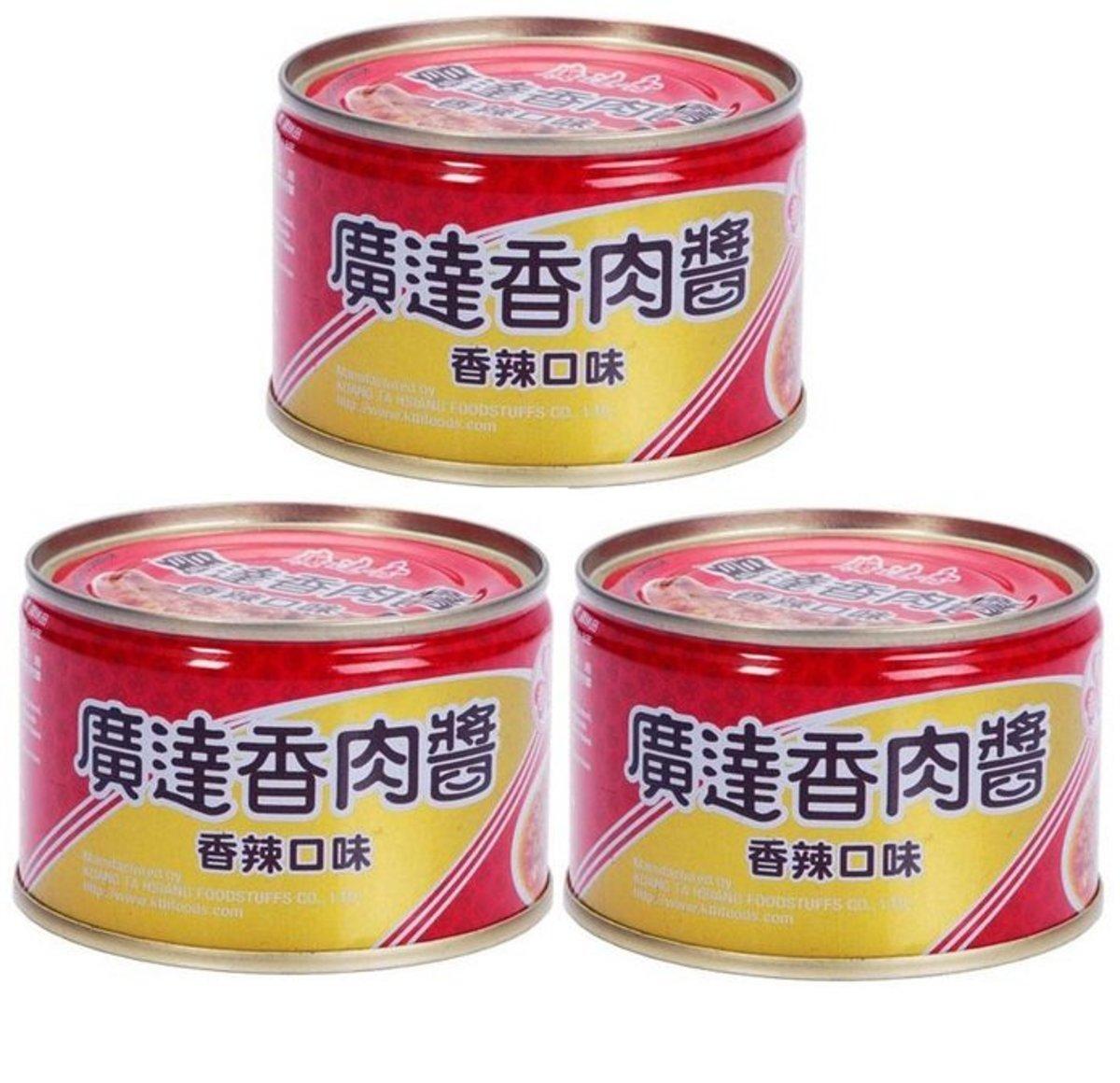 Taiwan Kuang Ta Hsiang Fried Pork Paste Hot Taste 160 x 3 (25217)