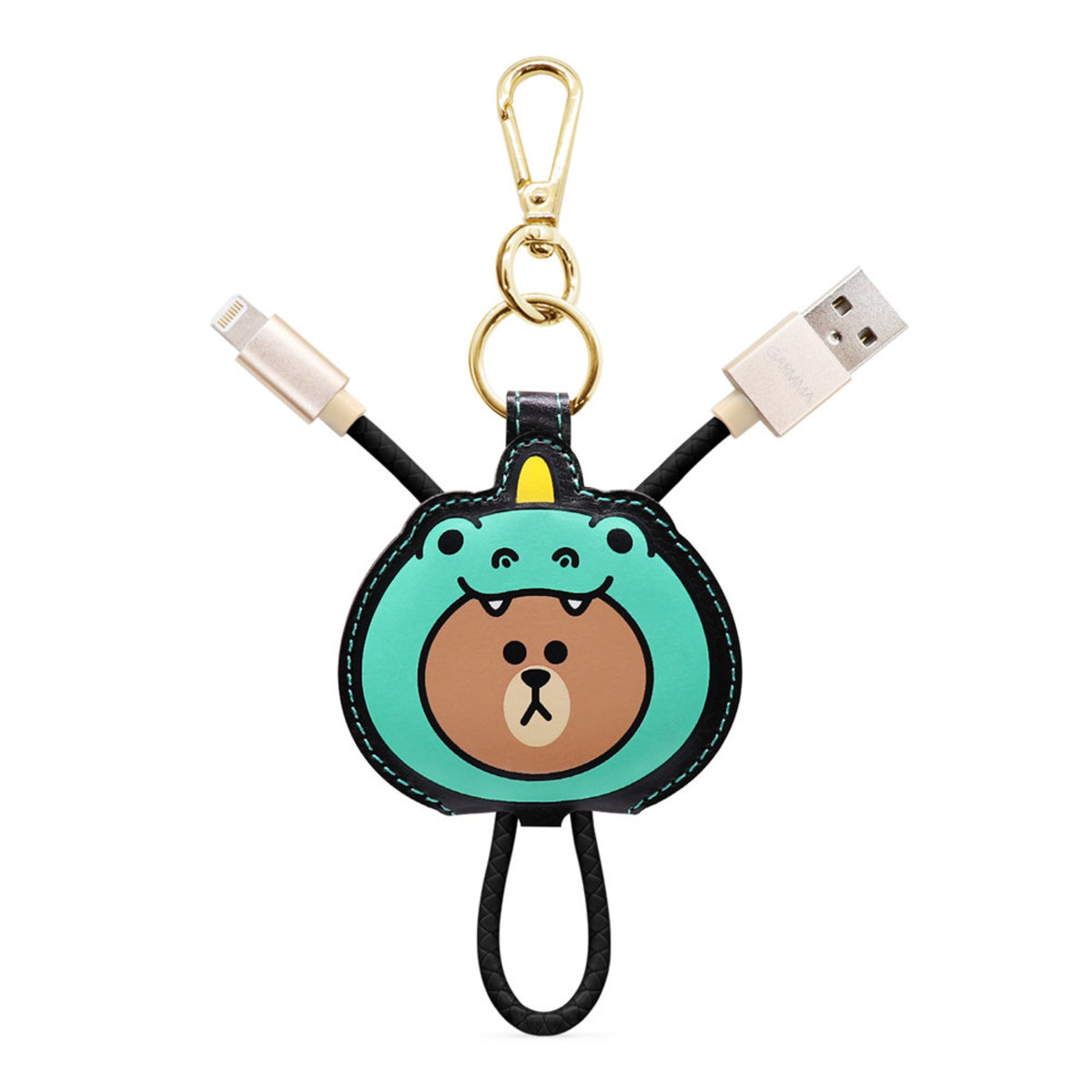 LINE FRIENDS Apple Lightning (MFI) Leather USB cable (67830)