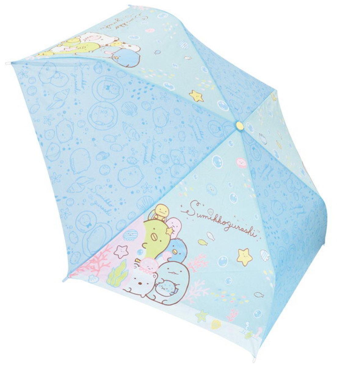 日本 J's Planning Sumikko Gurashi 角落生物 耐風骨摺疊雨傘 (90318) 53cm 傘半徑