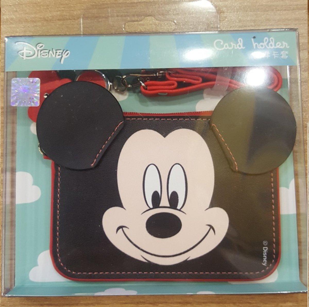 迪士尼 自動回彈伸縮繩 立體造型卡套 Mickey D71-1-0102