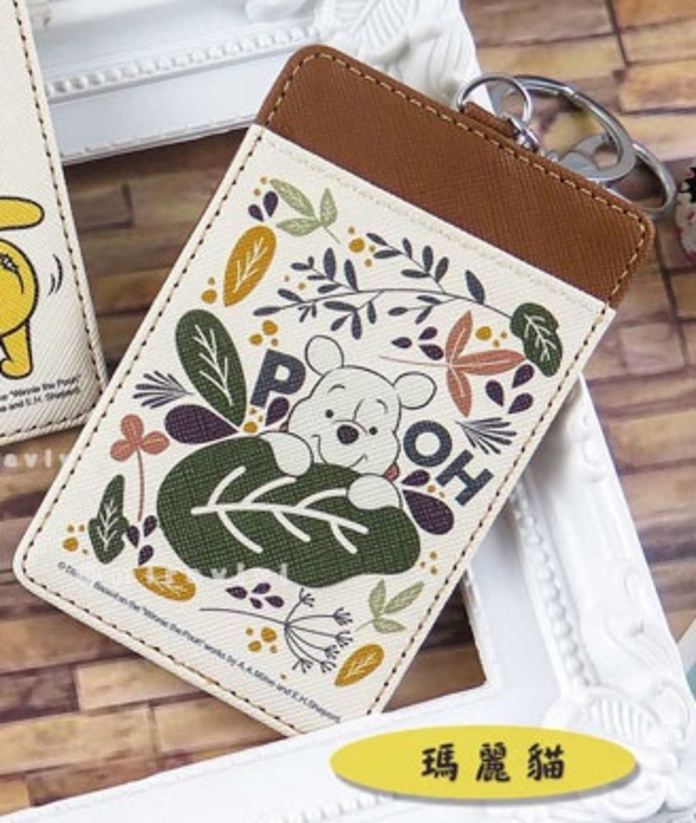 Disney Leather Card Holder ( cardholder10 ) Winnie the Pooh