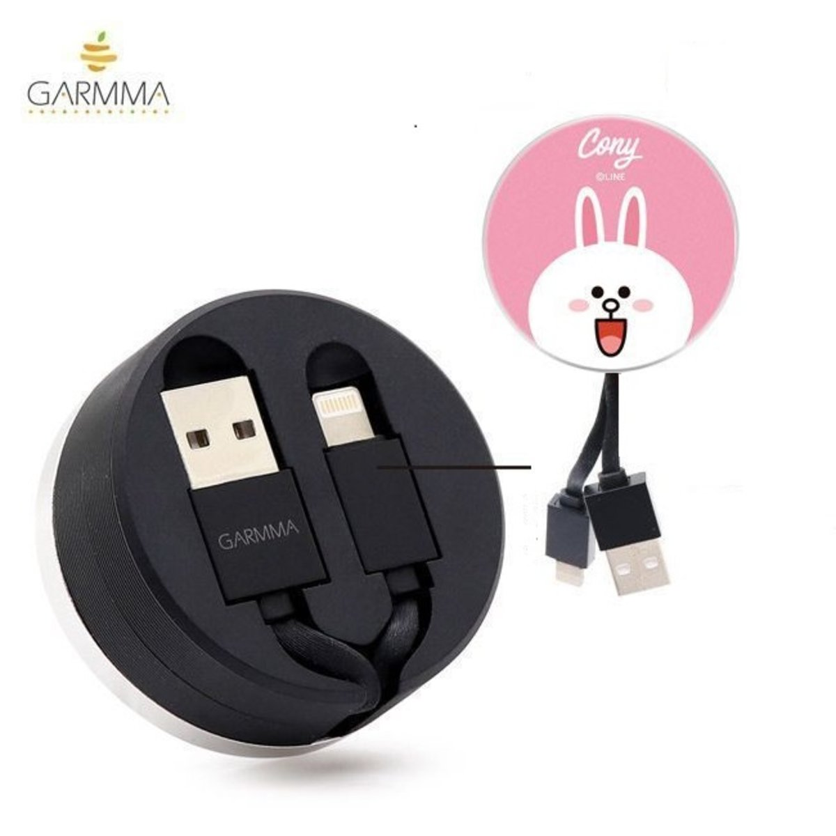 Line Friends Cony Extracted Extension Lightning Cable (Apple) 4710150863535