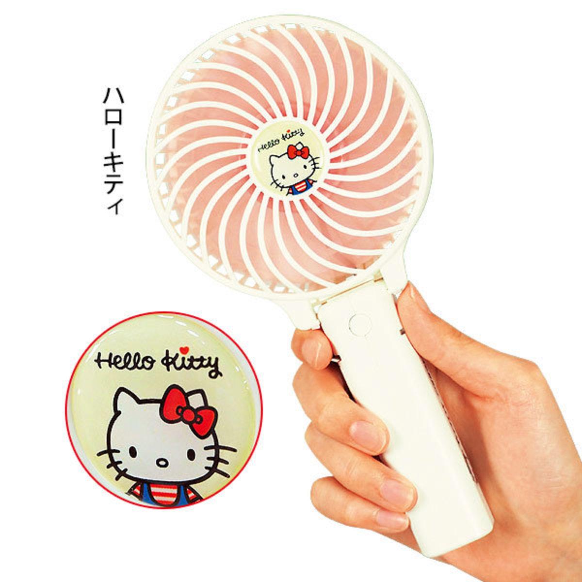 日本SIS Sanrio 可掛可摺 三段風速 手提 USB 風扇 (附金屬掛勾) Hello Kitty 4573424380516