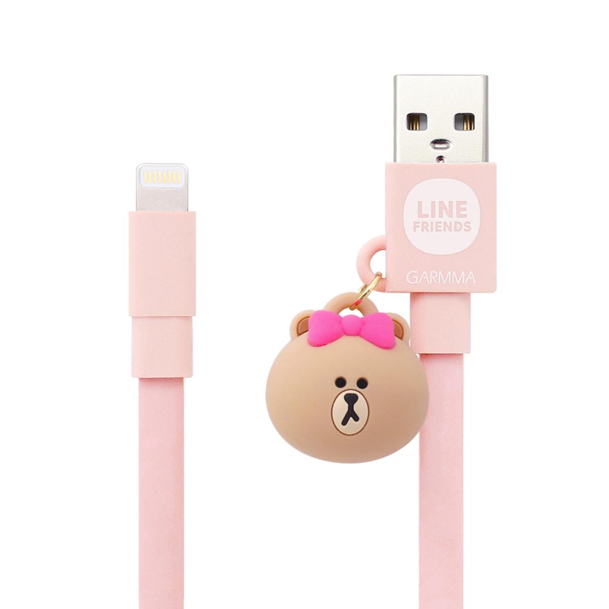Line Friends Apple Lightning Doll Dangler USB cable (Choco)