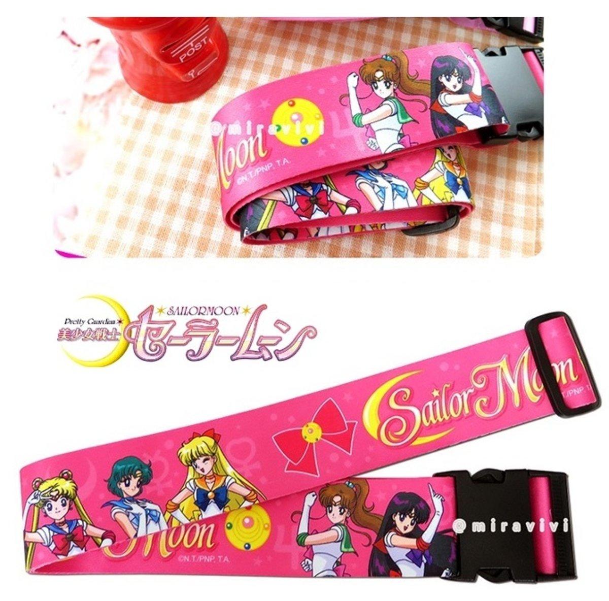 美少女戰士 柔滑緞面行李帶 (桃紅) luggagebelt01