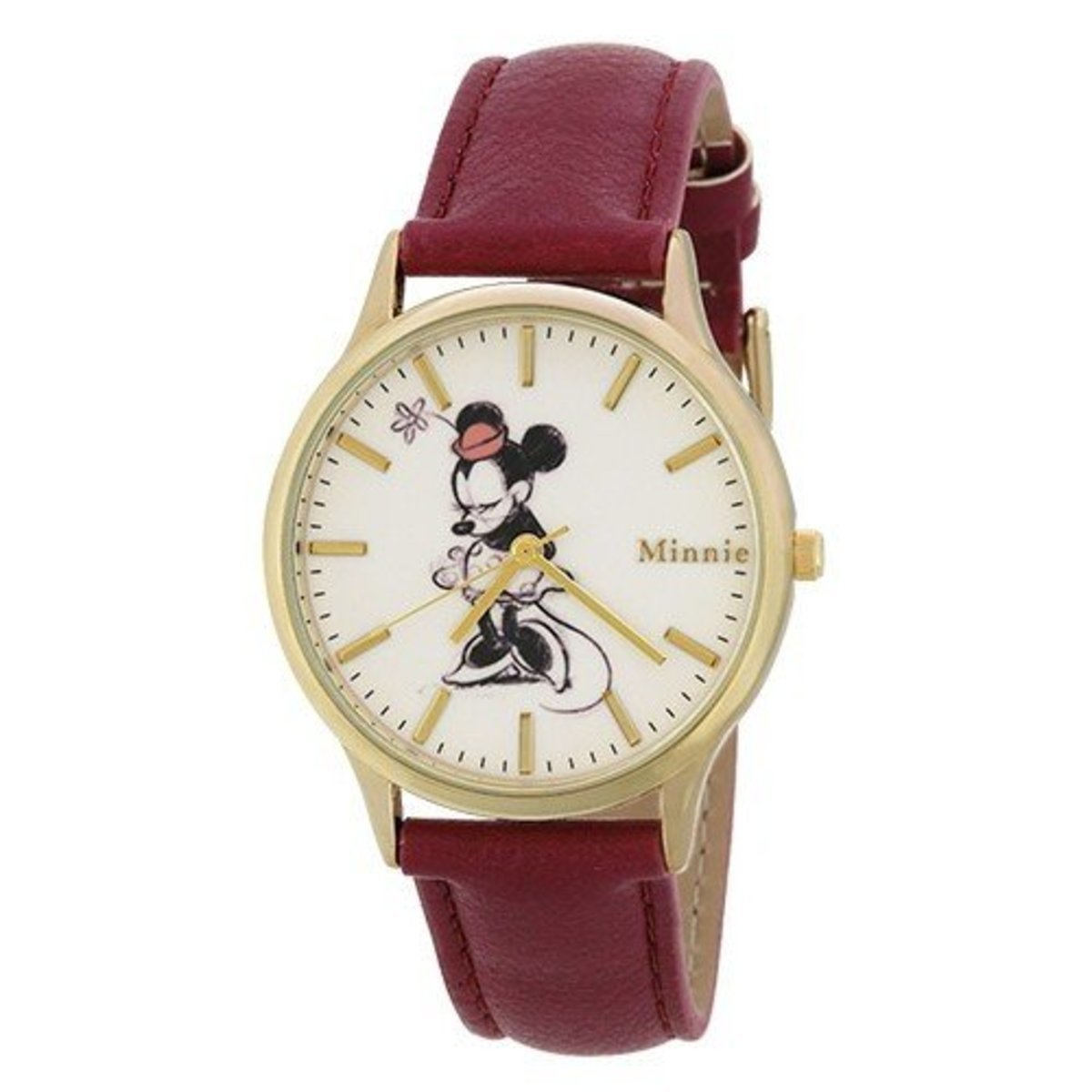 Disney leather watch Minnie (Made in Japan) 4937996374005