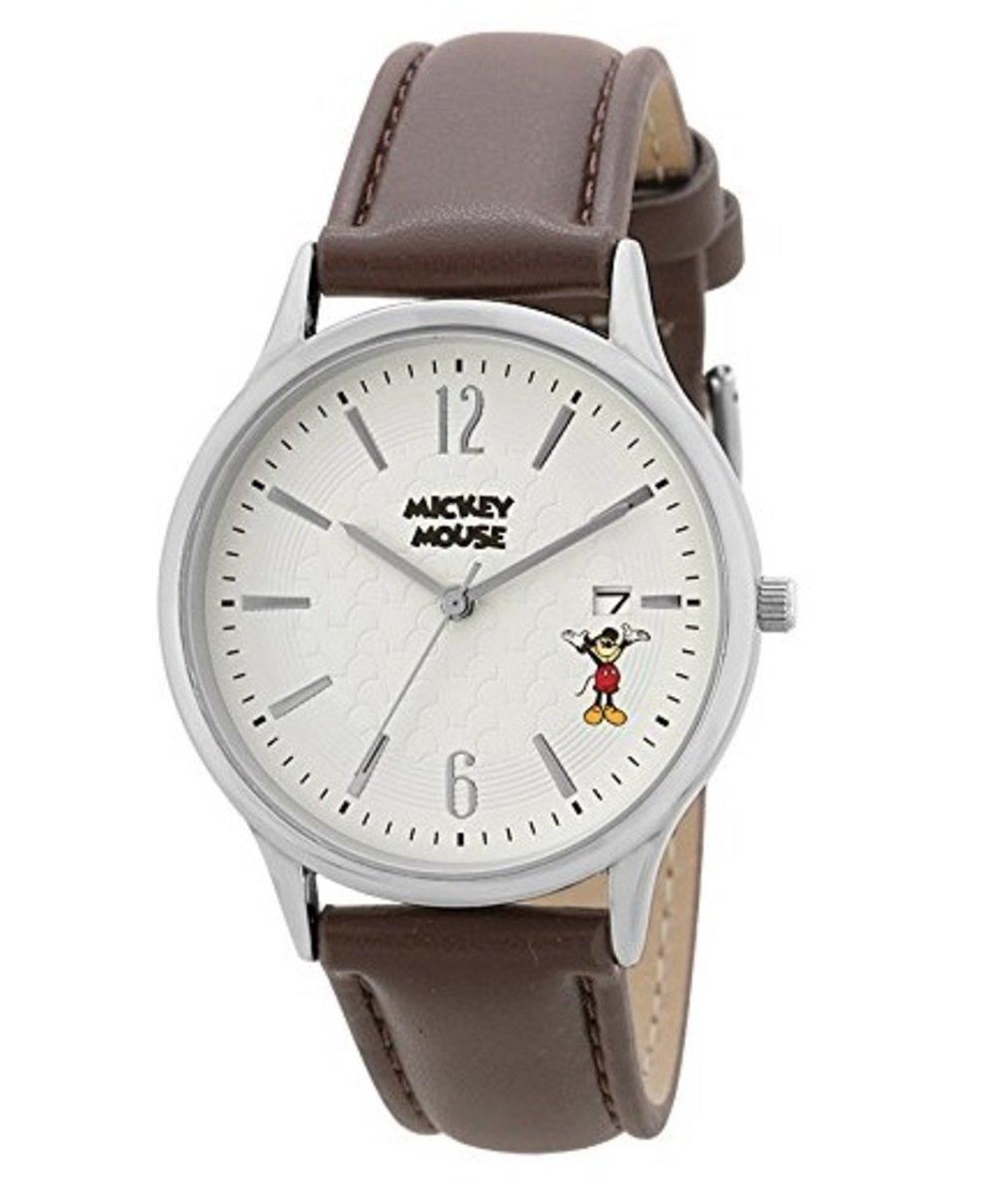 Disney leather watch Mickey 4937996374241
