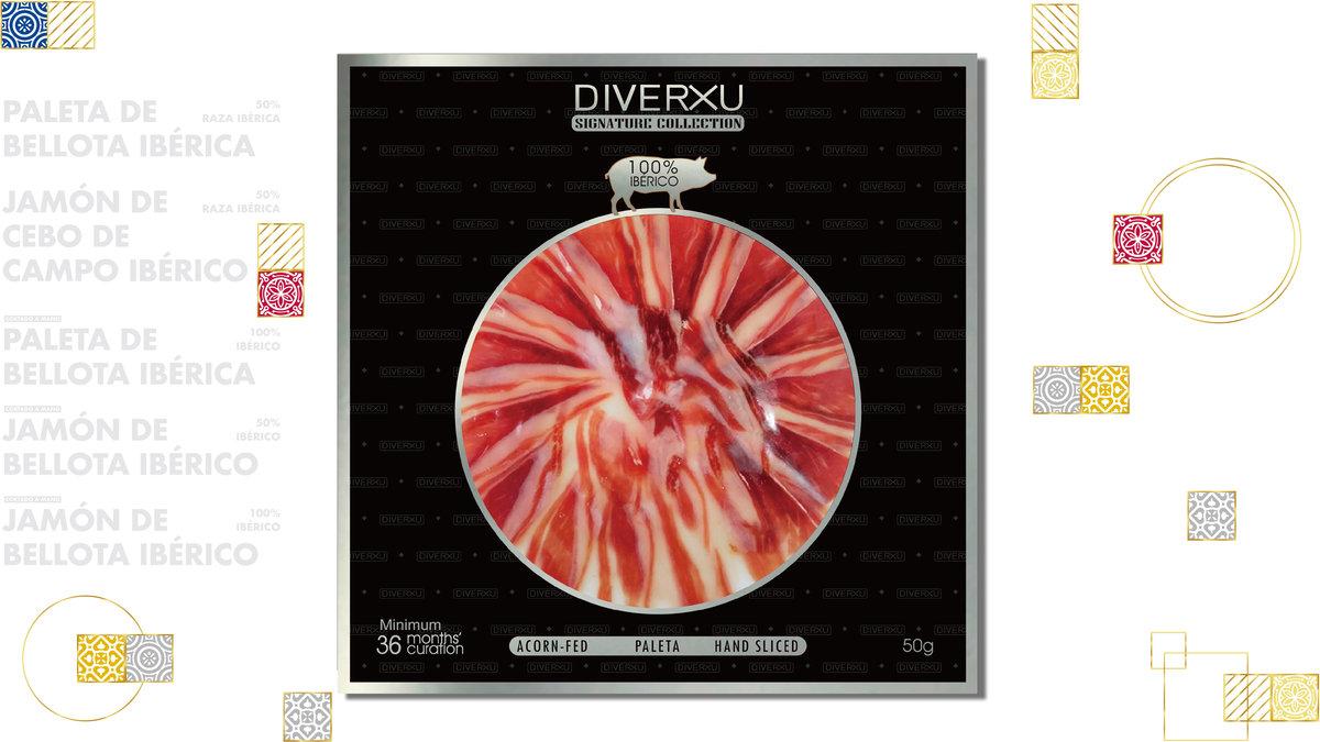 Hand-sliced 100% Iberico Ham (Acorn), minimum 30 months Curation 50g