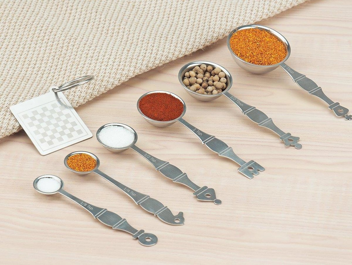 S.Steel MeasuringSpoons(Chess)