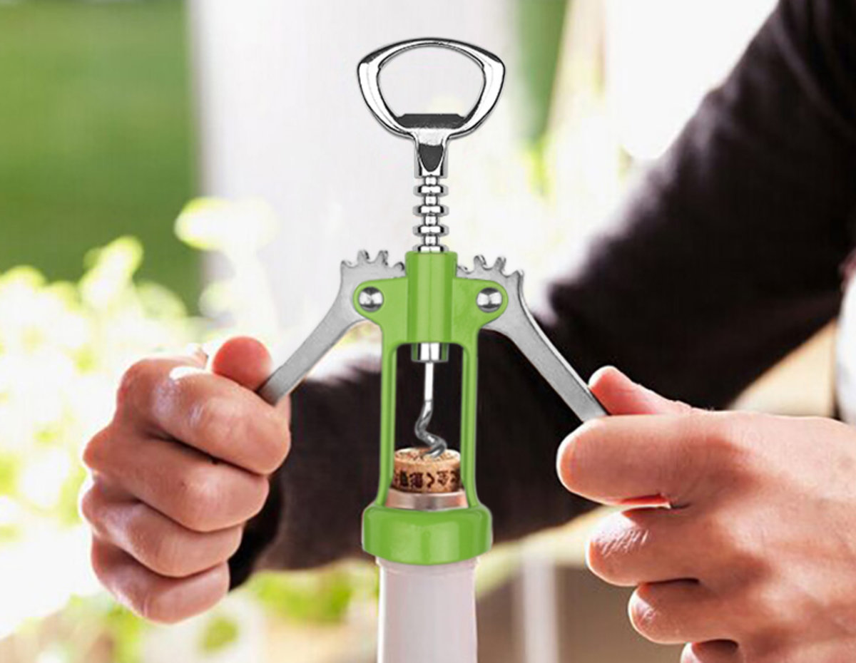 Zinc Alloy Wine Opener (Green)