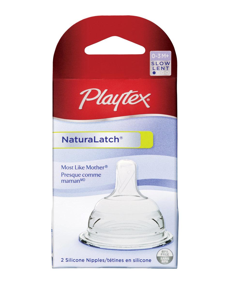 Playtex NaturaLatch Silicone Slow Flow Nipple  4080