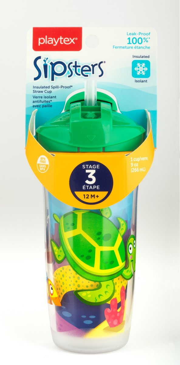 Playtex Stage 3 Insulated Straw 9oz. 12M+ (Assortment, Random selection)