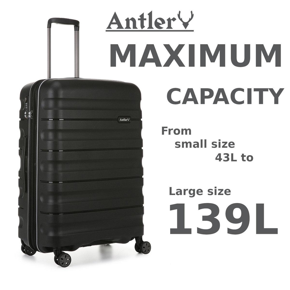 英國 Antler JUNO II Dlx 行李箱 - 黑色