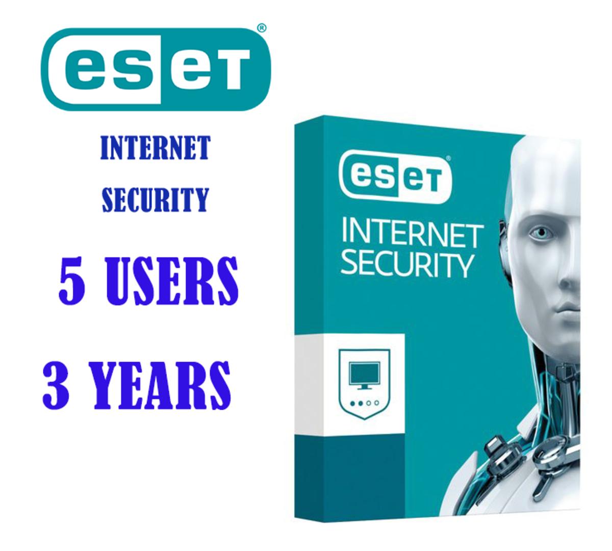 Internet Security (5用戶/3年版本) 網絡安全套裝(送廿八葉 高山烏龍茶 60g)