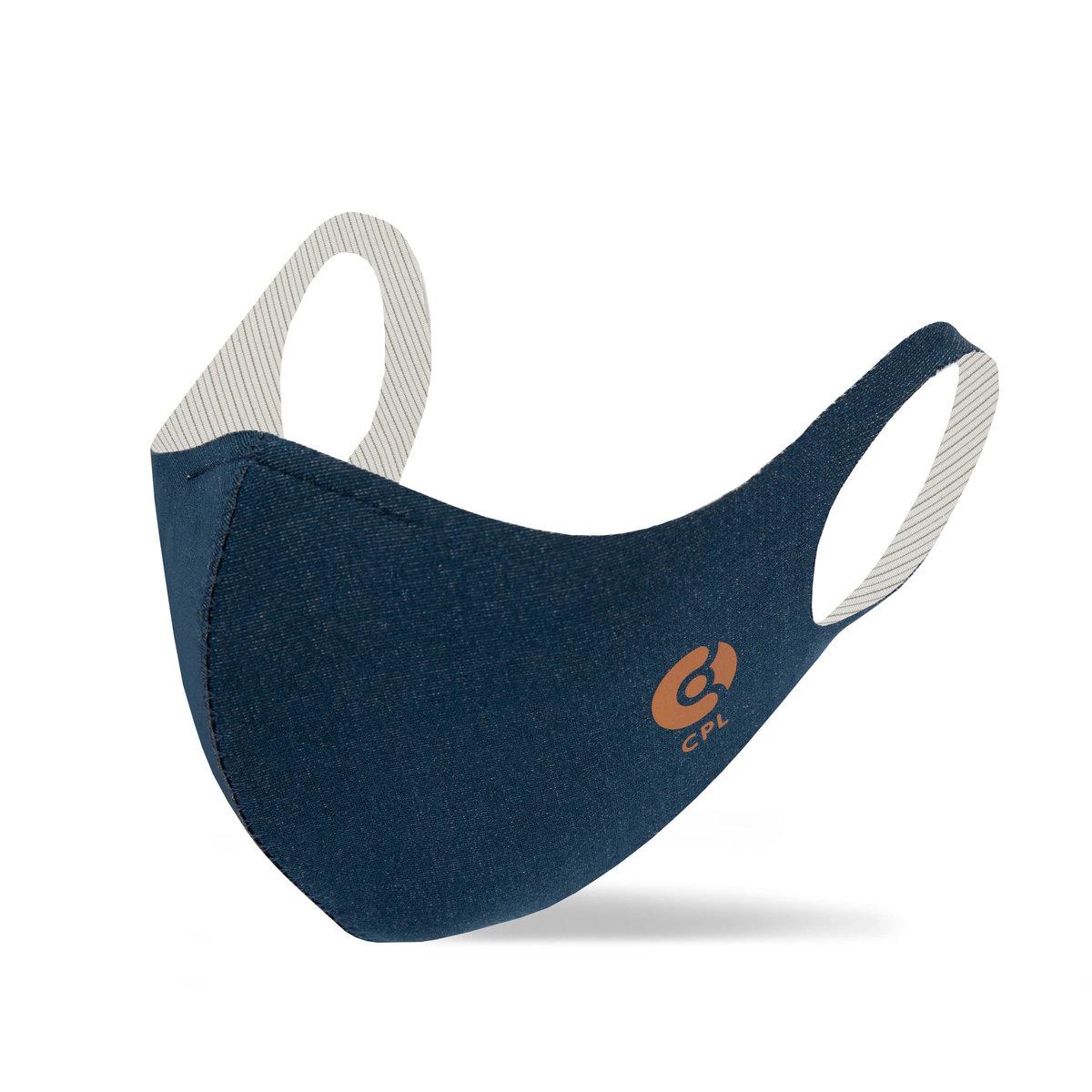 抗菌銅線口罩 (獨特型) -深藍色-L