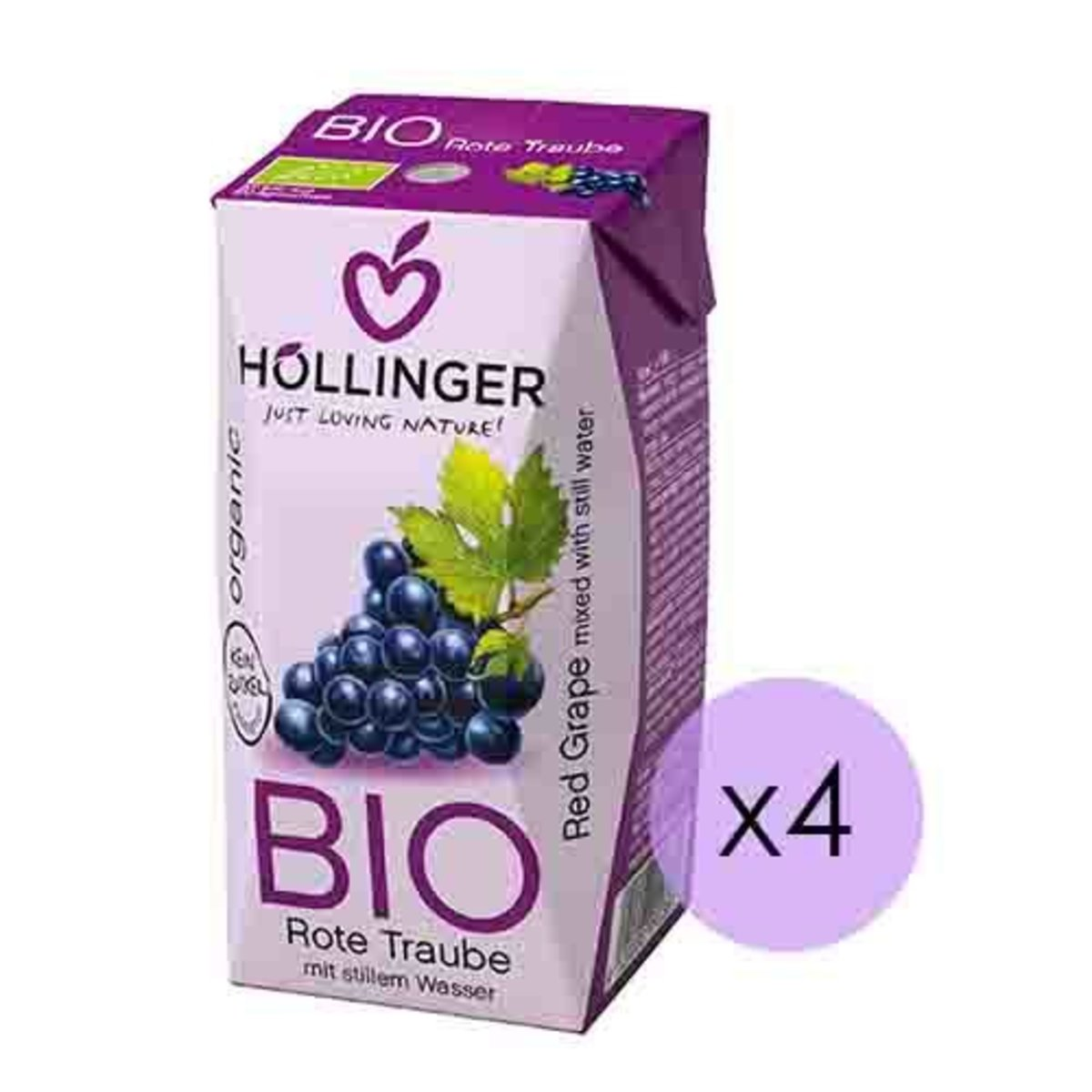 Organic Cloudy Grape Nectar X4 (200ML X4)