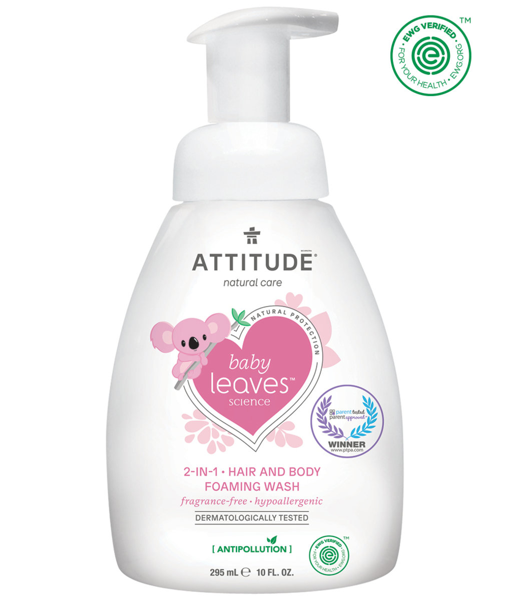 Baby Leaves 2-in-1 Hair and Body Foaming Wash Fragrance-free Natural protection 295mL
