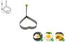 KINVO BUCK-I 黑鋼不銹廚刀4把裝 連心型煎蛋器