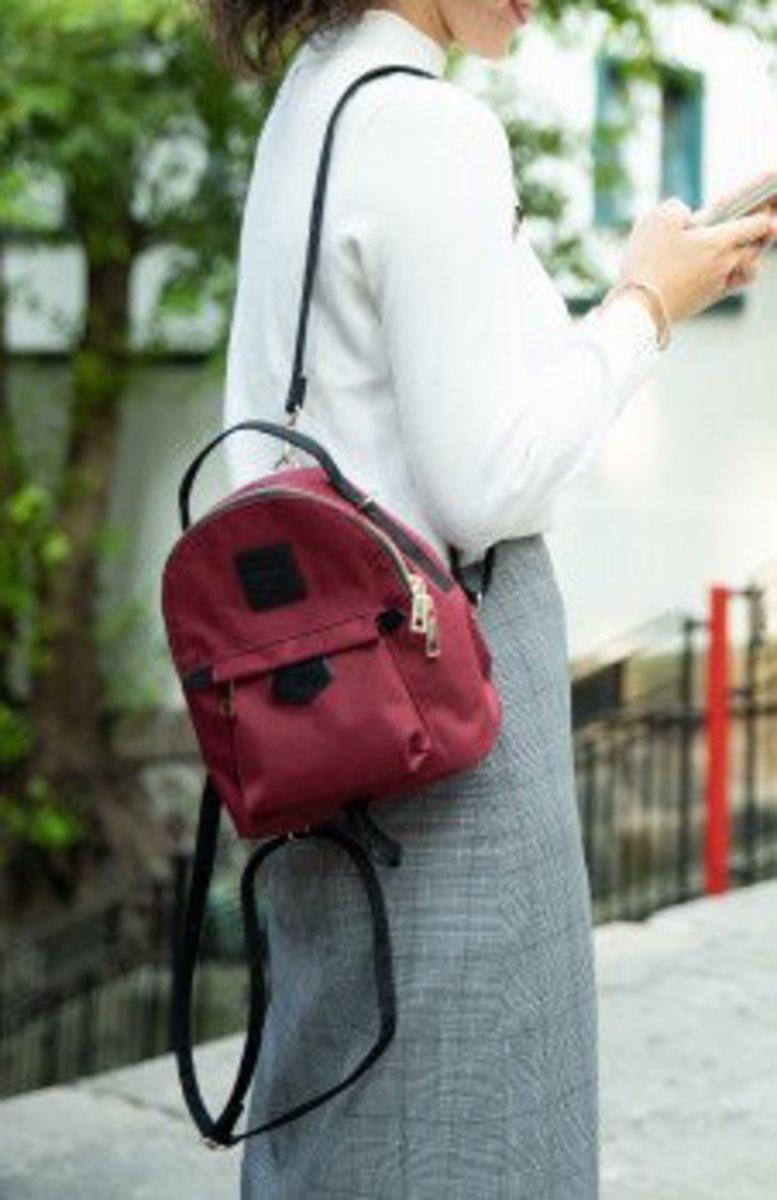 【 迷你精選】Kah & Kee 日系兩用休閑 Mini Sweety 背囊 -Wine Red
