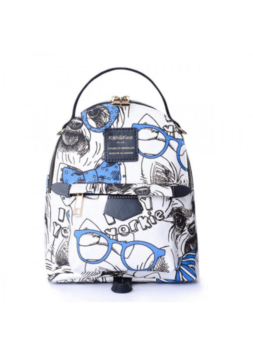 【 迷你精選】Kah & Kee 日系兩用休閑 Mini Sweety 背囊 -Graphic blue Print