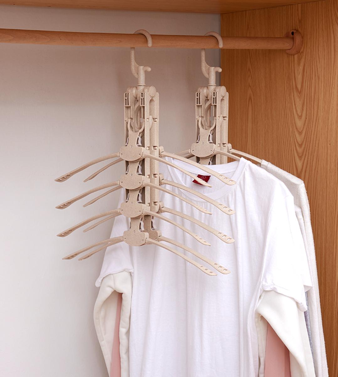 【八件變一件】- 8合1 可摺收納掛衣架 - 馬上騰出衣櫃空間