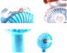 【 吹出來真係涷!! 】 戶外噴霧手提風扇 - USB充電 (粉藍色)