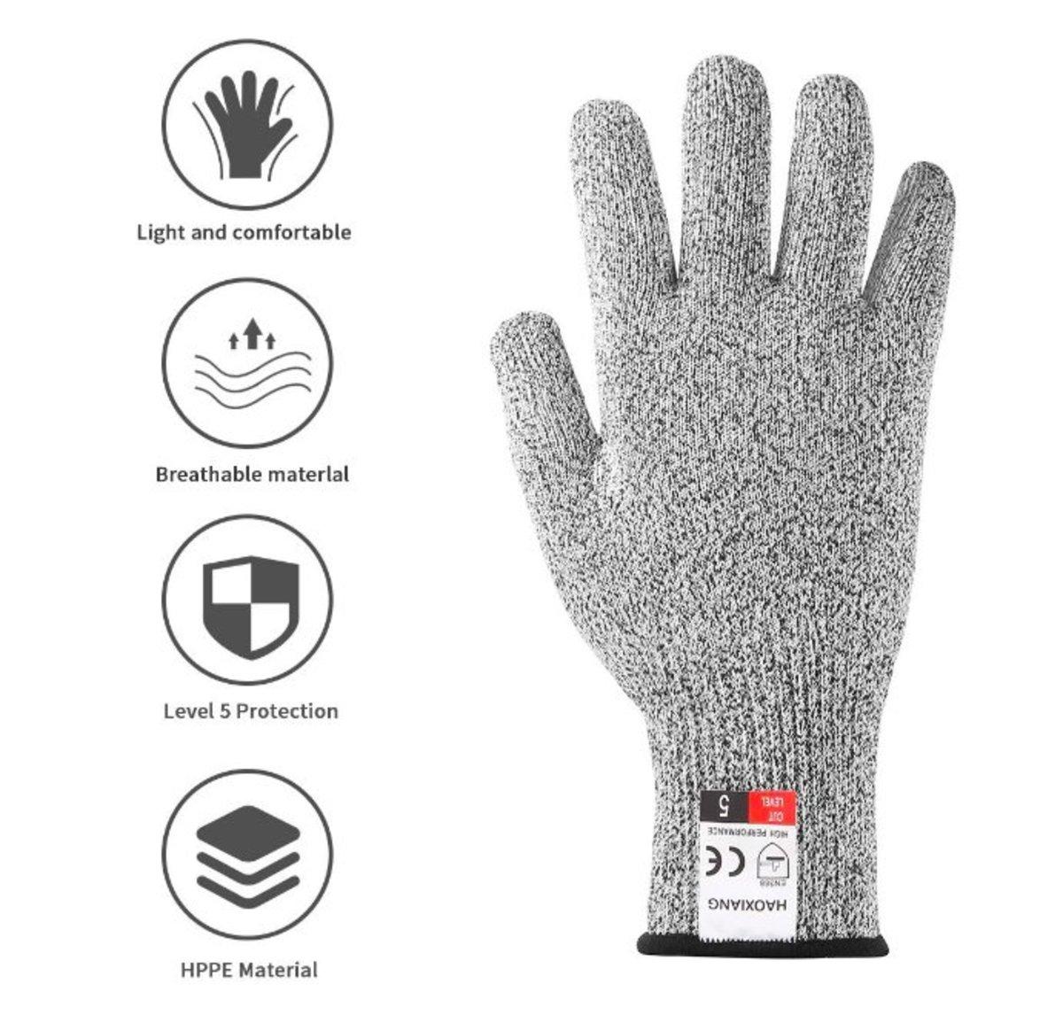 HPPE materials 強化耐磨防切割手套 x 2