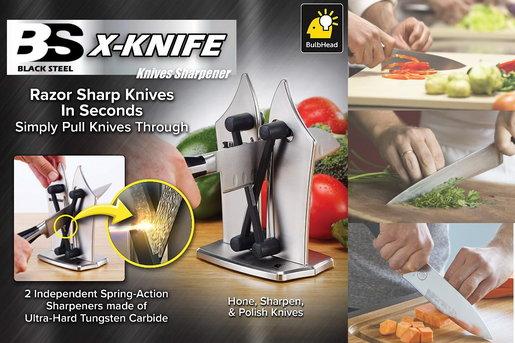 Black Steel - Bavarian Edge Kitchen Knife Sharpener X-shape