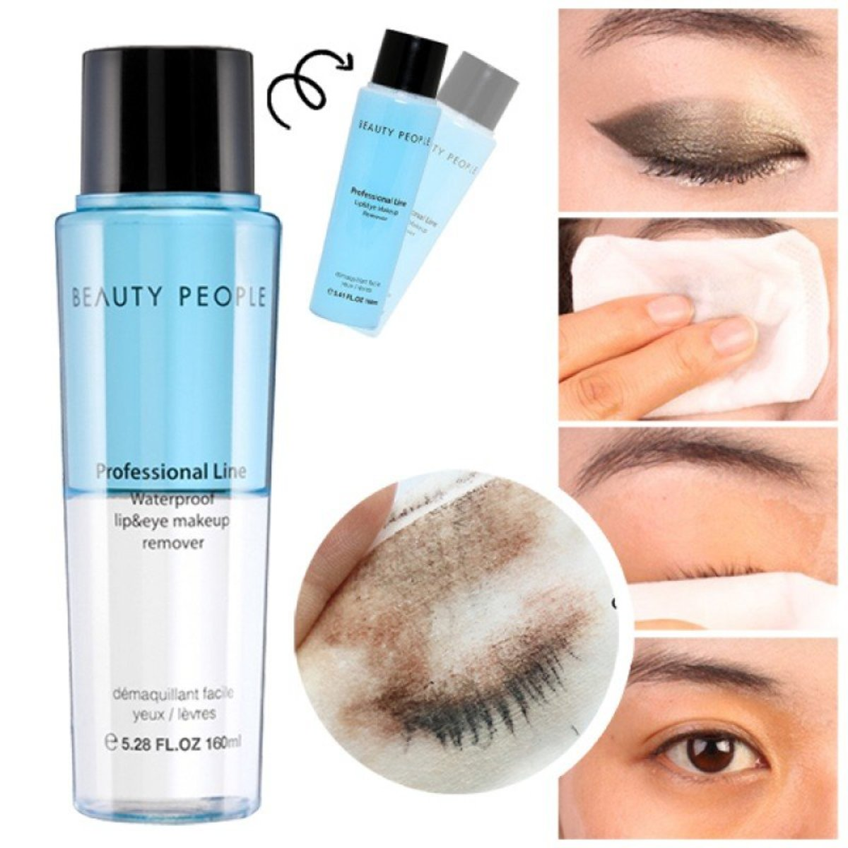 Waterproof Lip&Eye make up remover(professional line)