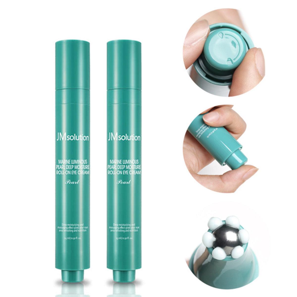 Marine Luminous Pearl Deep Moisture Roll-On Eye Cream(Pearl)(2pcs)
