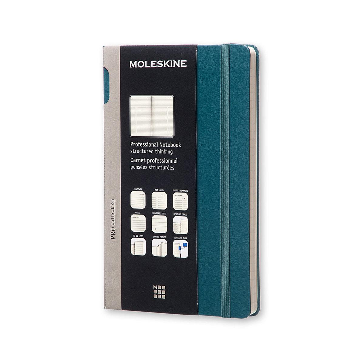 Moleskine PROFESSIONAL NOTEBOOK LARGE Tide Green HARD COVER