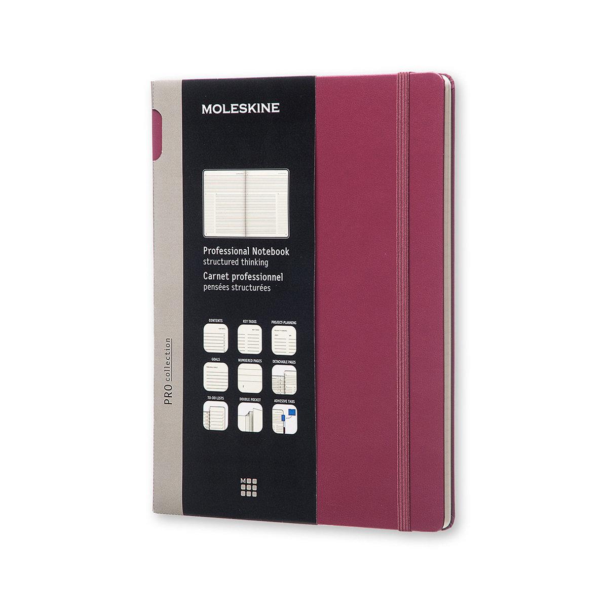 Moleskine PROFESSIONAL NOTEBOOK XL Plum Purple HARD COVER