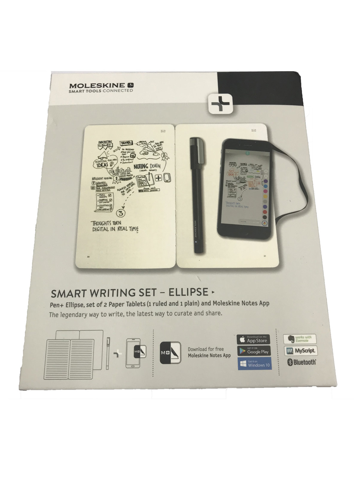 Moleskine Moleskine Smart Writing Set Ellipse Hktvmall Online Shopping