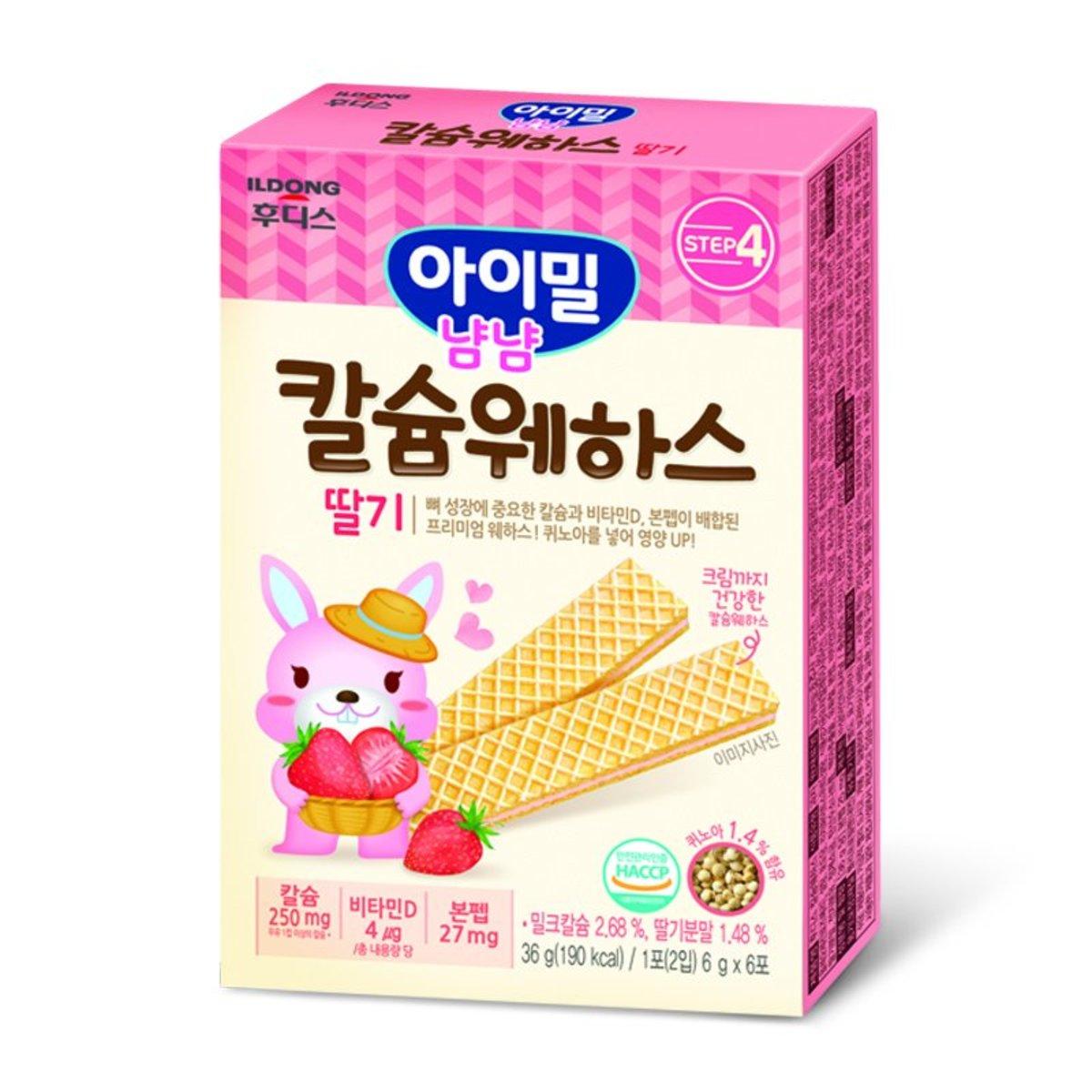 ILDONG Quinoa Wafer Colostrum ( Calcium + Strawberry )