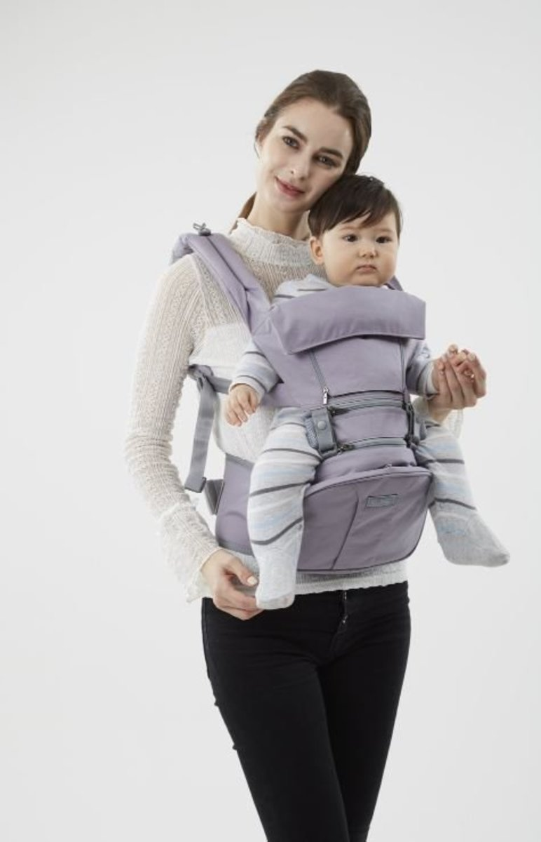 EZBAG 2.0 HIPSEAT CARRIER Organic - Purple (Included drooping pads)