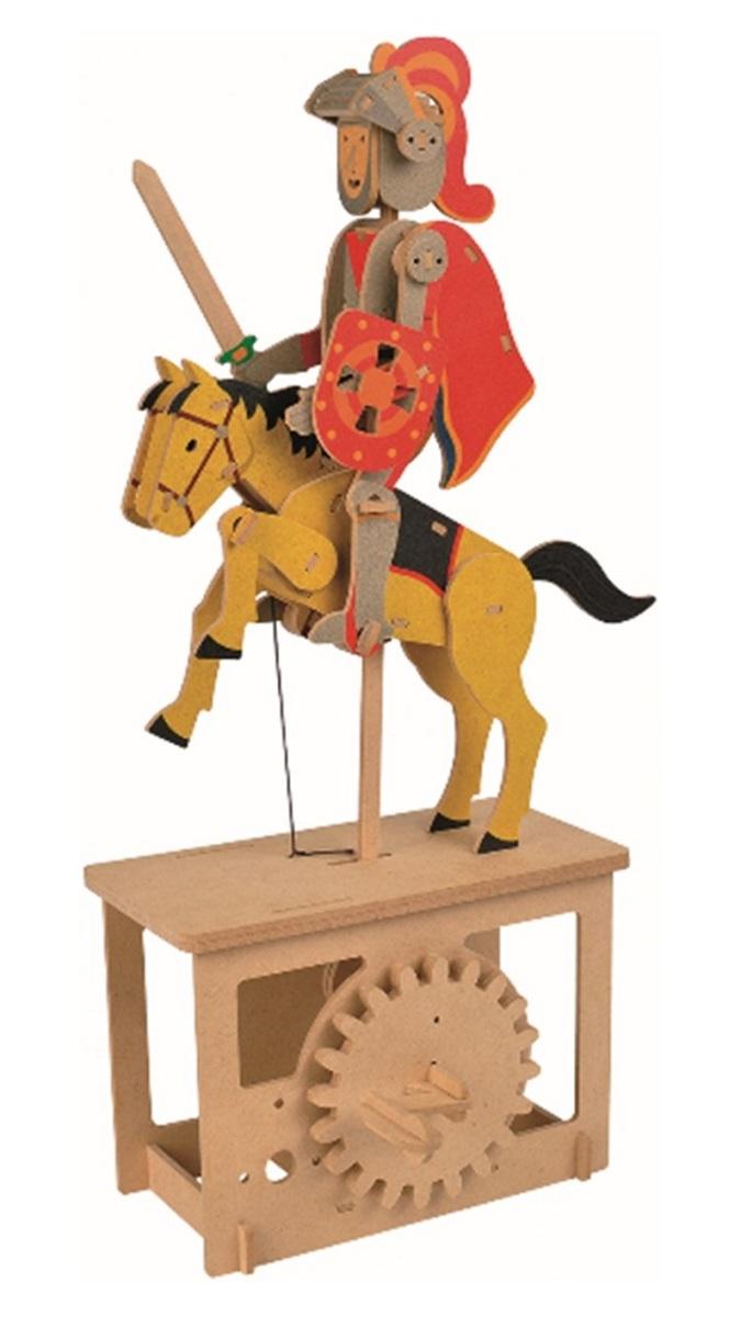 Modelshop | Red Knight Machine 3D STEM Moving Wooden Model hand