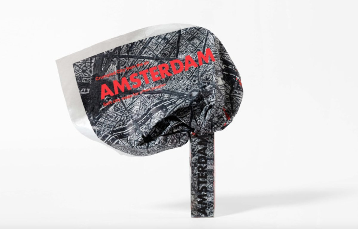 Crumpled City From The Air - Amsterdam | 生日禮物 | 父親節禮物